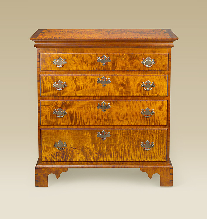 Chippendale Four Drawer Chest Image