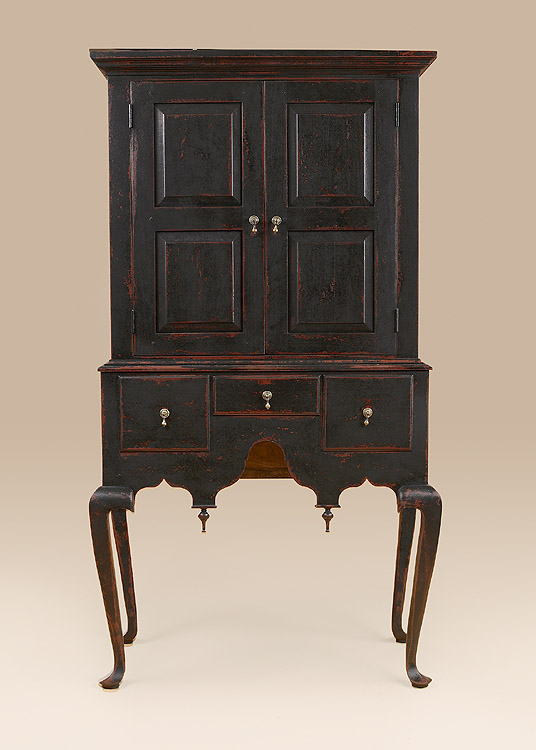 Queen Anne Highboy Cupboard Image