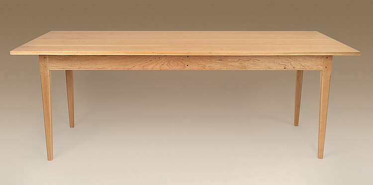 Cherry Wood Shaker Table - Natural Finish Image