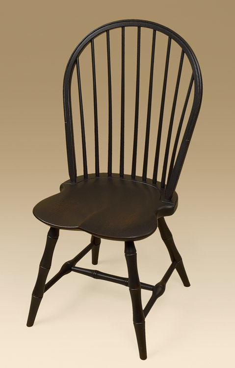 Bow-Back Side Windsor Chair with Bamboo Turnings Image