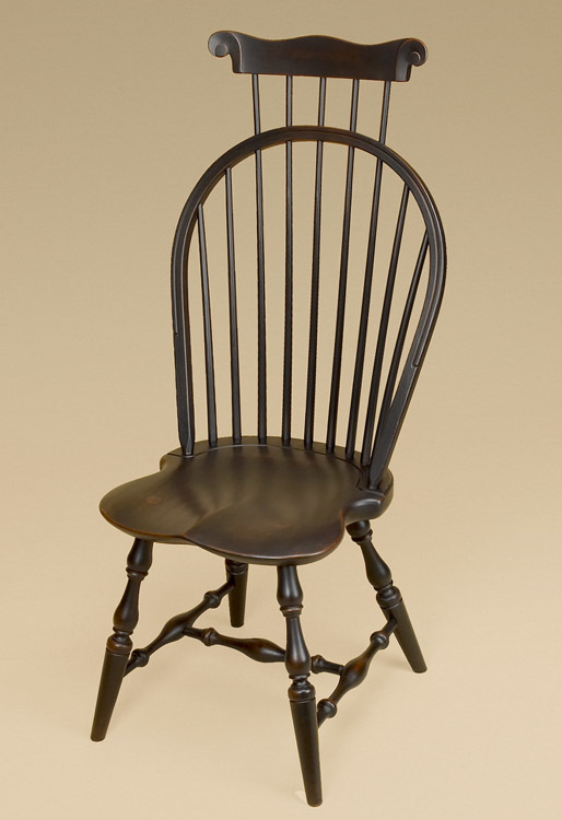 Bow-Back Windsor Side Chair with Comb Image