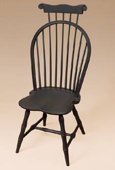 Bow-Back Windsor Side Chair with Comb and Bamboo Turnings Image