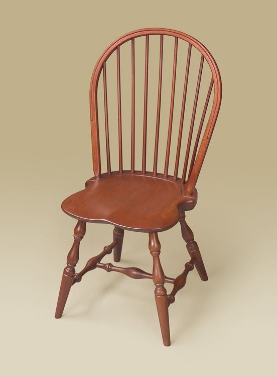 Cherry Bow-Back Windsor Side Chair Image