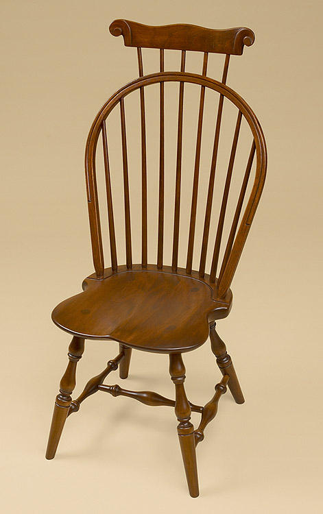 Cherry Bow Back Windsor Side Chair With Comb Image