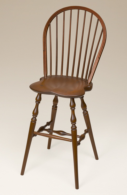Cherry Bow-Back Windsor Stool Image