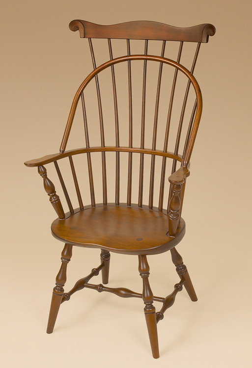 Cherry Sack-Back with Comb Windsor Armchair Image