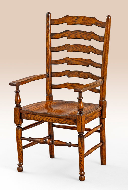 English Ladderback Armchair Image