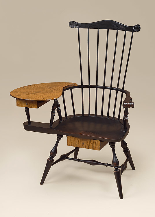 Historical Fan-Back Windsor Writing Armchair Image