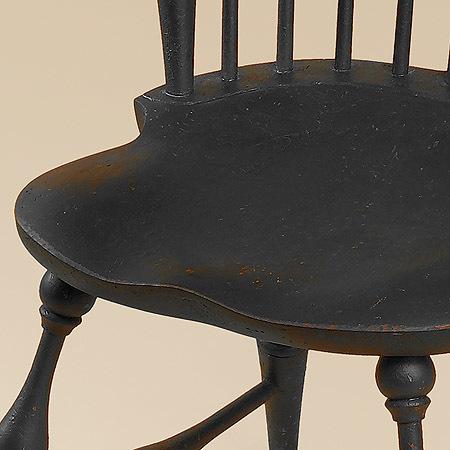 Historical Nine Spindle Fan Back Windsor Side Chair With Brace