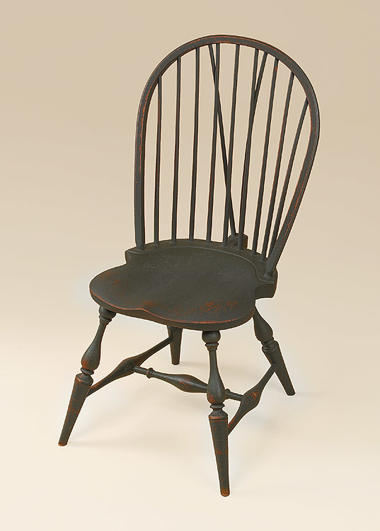 Amazing Historical Bow Back Side Windsor Side Chair With Brace Image