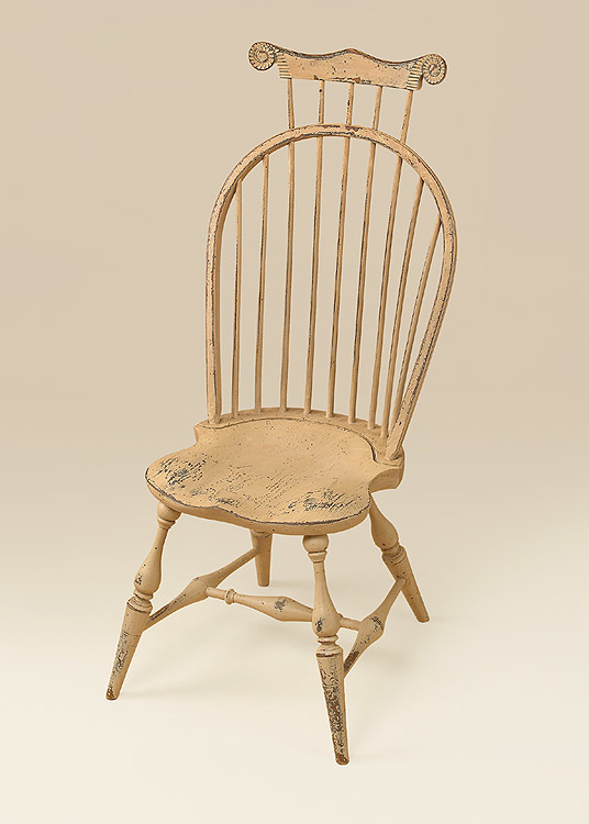 Historical Bow-Back Side Windsor Chair with Comb Image
