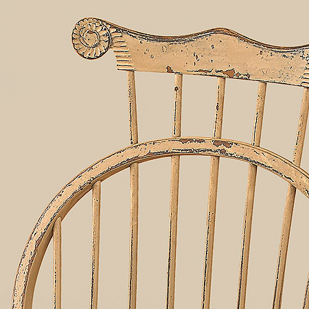 Historical Bow Back Side Windsor Chair With Comb