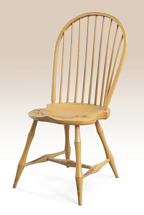 Superb Historical Bow Back Windsor Side Chair With Bamboo Turnings Image