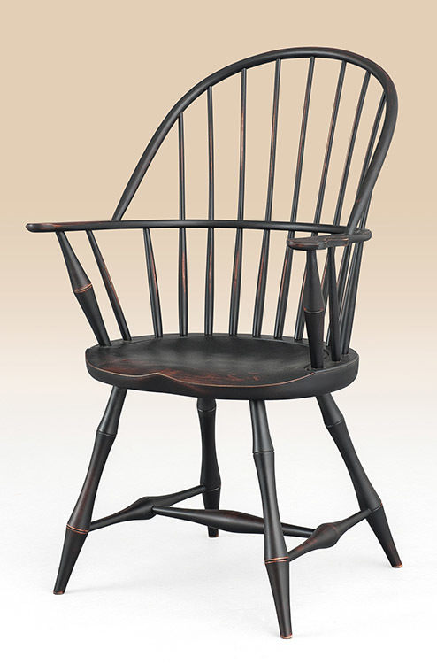 Historical Connecticut Sack-Back Windsor Armchair with Bamboo Turnings Image