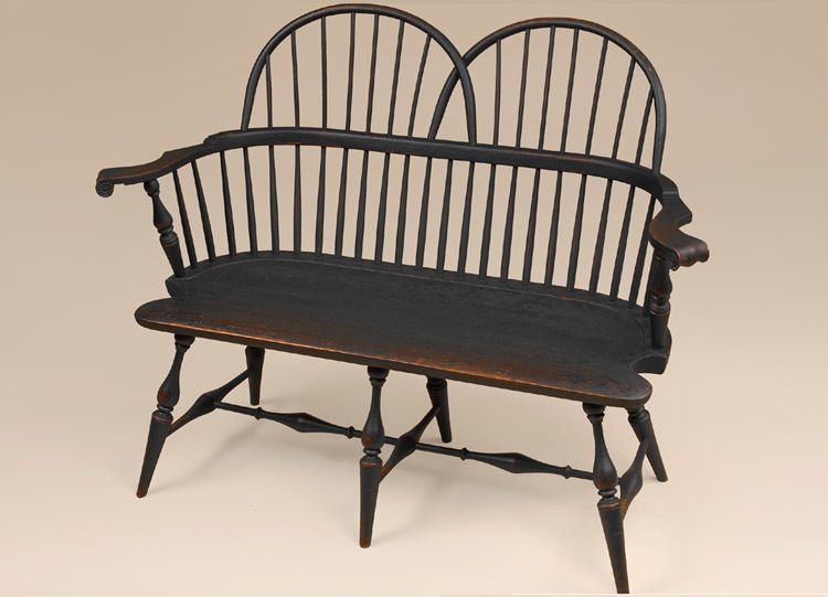 Historical Double Sack-Back Windsor Settee Image