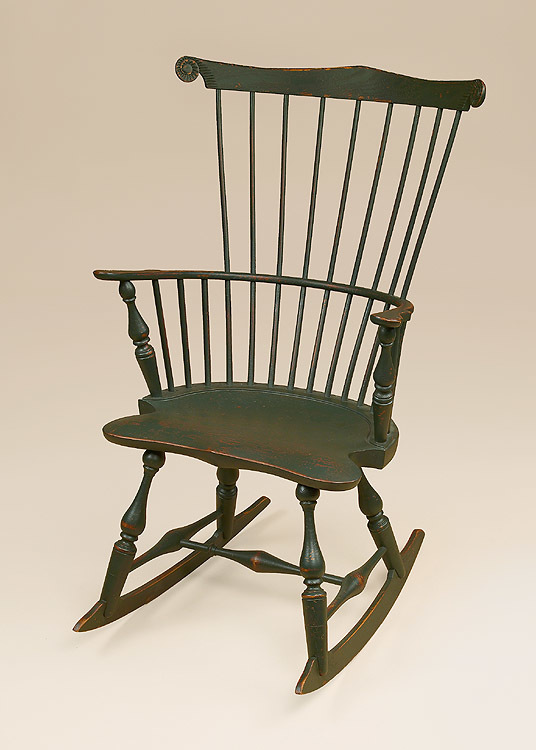 Historical Fan-Back Rocking Chair Image