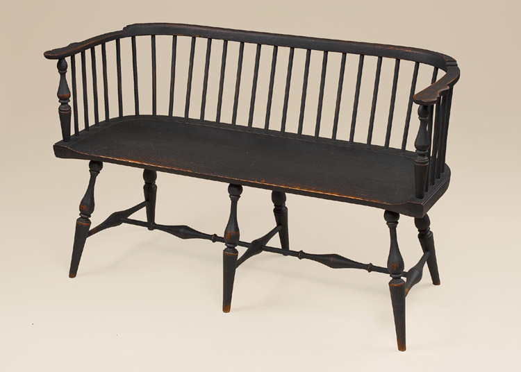 Historical Low-Back Windsor Settee Image