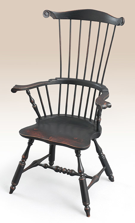 Historical Massachusetts Windsor Armchair Image