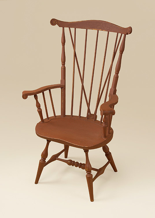 Historical Nantucket Windsor Armchair with Brace Image