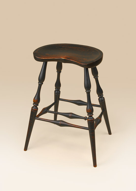 Historical Saddle Seat Kitchen Stool Image