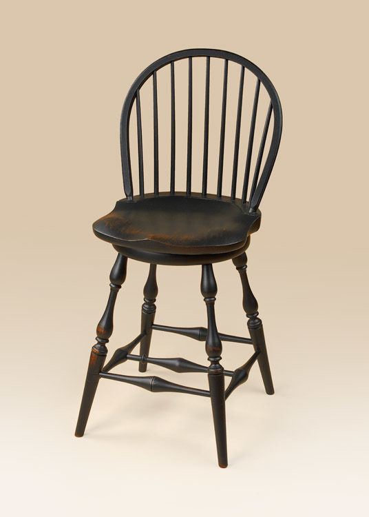 Historical Swivel Low Bow-Back Windsor Stool Image