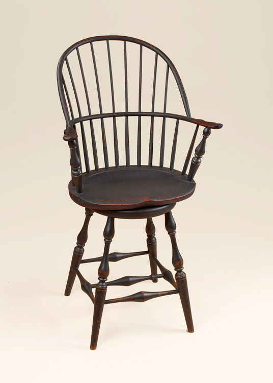 Historical Swivel Sack-Back Stool Image