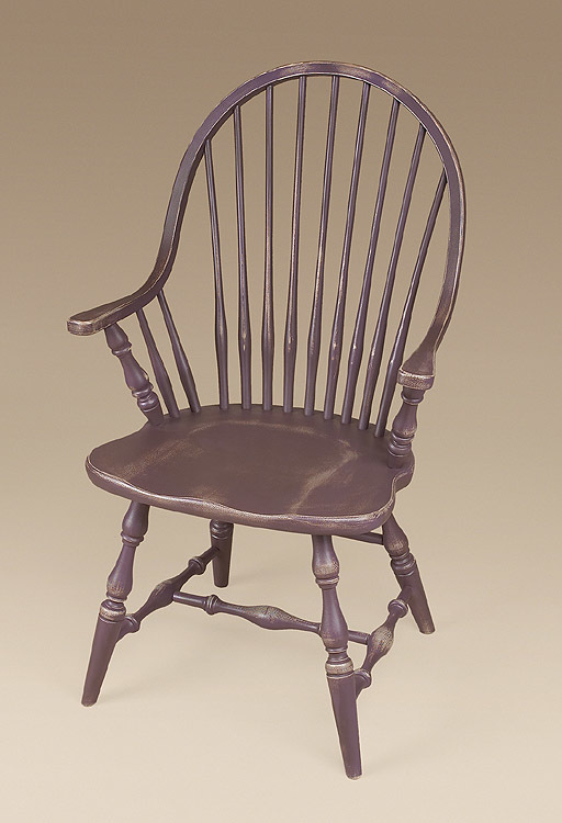 New England Continuous Arm Windsor Chair Image