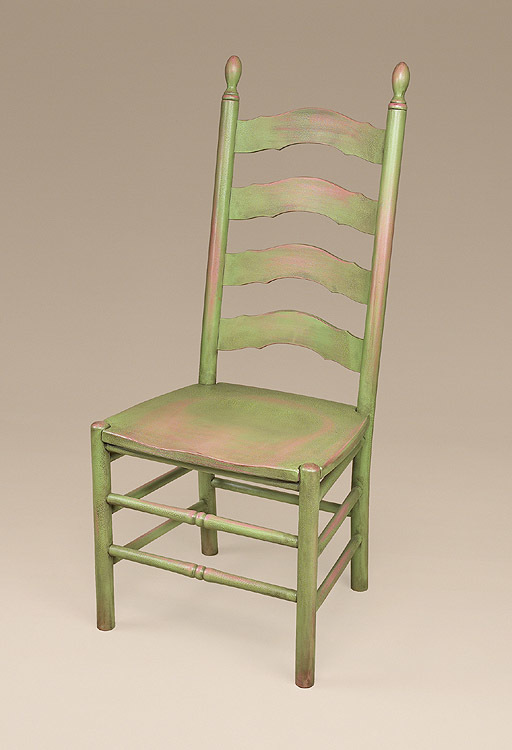 Genial Simone French Side Ladderback Chair Image