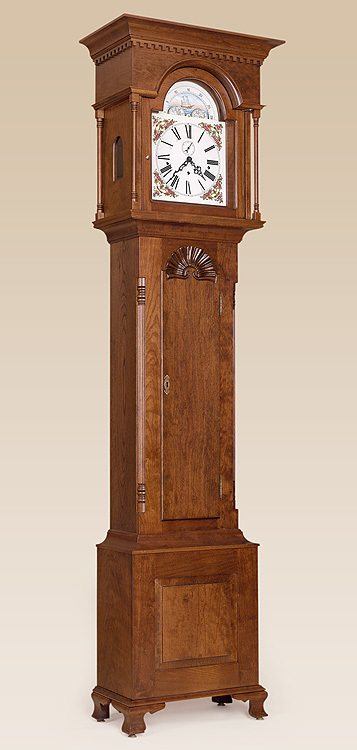 Chester County Grandfather Clock - Carved Shell Image