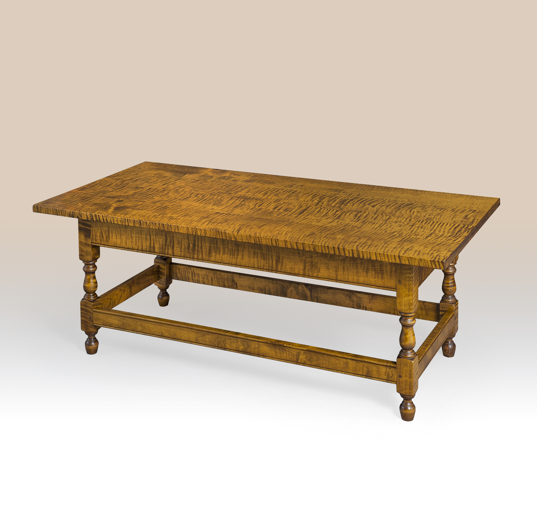 Historical chatham stretcher base coffee table Bases for coffee tables