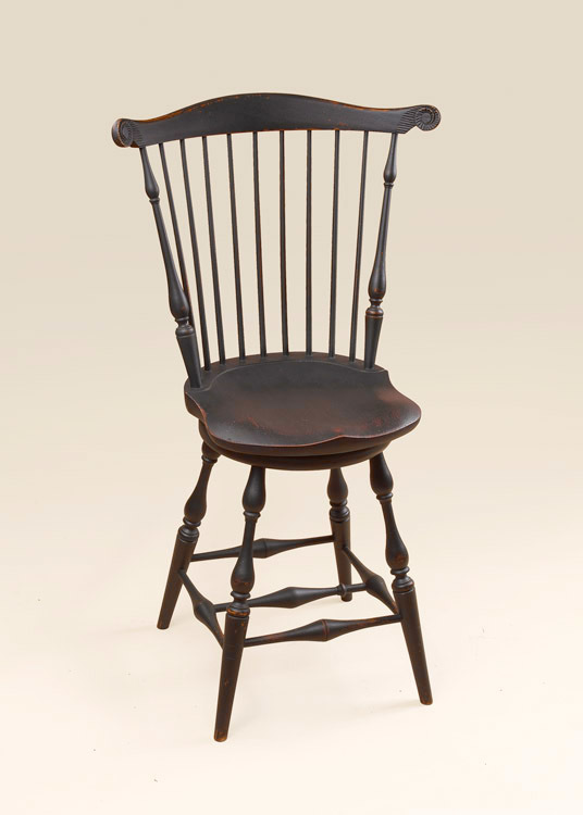 Historical Swivel Fan-Back Stool Image