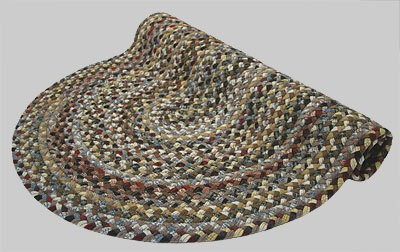 Beacon Hill Braided Rug - Brown and Tan Multi with Mix of Red, Yellow and Blue - Number 2 Image