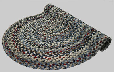 Beacon Hill Braided Rug - Blue Tones Multi with Mix of Red and Gray - Number 3 Image
