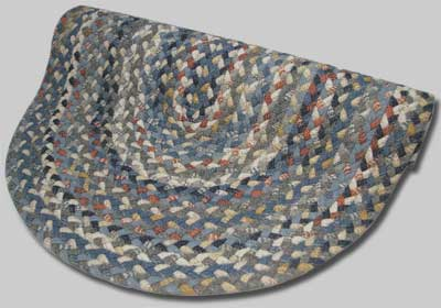 Beacon Hill Braided Rug - Blue, Gray and Rust Multi - Number 33 Image
