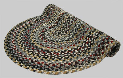 Beacon Hill Braided Rug - Black and Gray Multi with Mix of Red and Tan - Number 4 Image