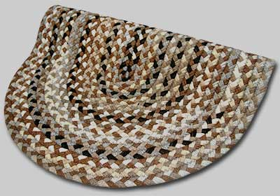 Beacon Hill Braided Rugs - Tans and Brown with Accents of Dark Brown - Number 45 Image