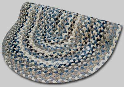 Beacon Hill Braided Rug - Denim Blue with Grey and Tan Accents - Number 46 Image