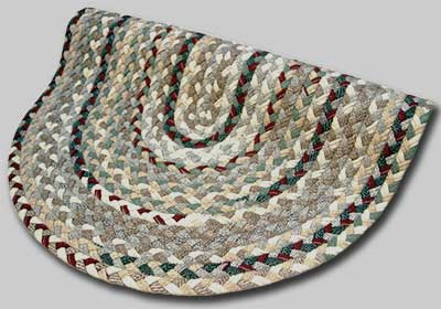 Beacon Hill Braided Rug - Beige Tones with Green Burgundy Accents - Number 48 Image