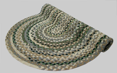 Beacon Hill Braided Rug - Berber Beige and Gray Mix with Tan and Green Tones - Number 6 Image