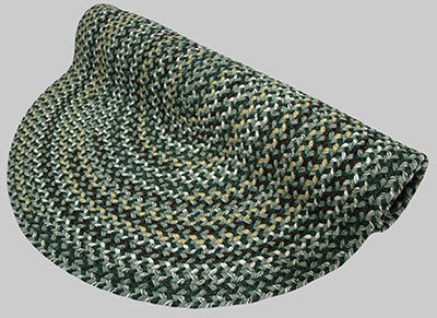 Vineyard Haven Braided Rug - Green Meadows - Number 603 Image