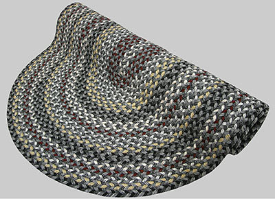 Vineyard Haven Braided Rug - Harbor Fog - Number 604 Image