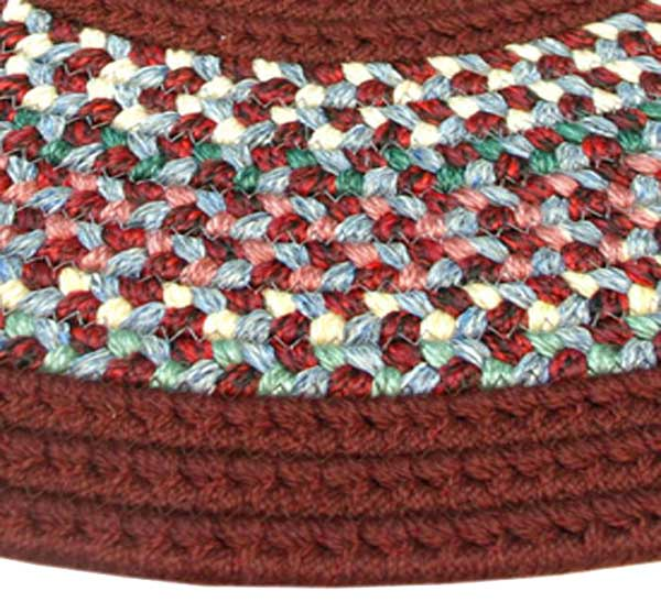 Pioneer Valley Ii Braided Rug Indian Summer With Burgundy Solids Number 87