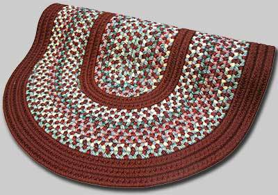 Pioneer Valley II Braided Rug - Indian Summer with Burgundy Solids - Number 87 Image