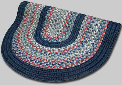 Pioneer Valley II Braided Rug - Olympic Blue with Dark Blue Solids - Number 88 Image