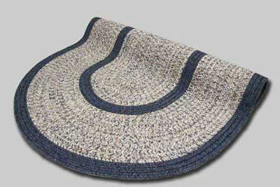 Town Crier Braided Rug - Blue Heather with Blue Solids - Number 91B Image