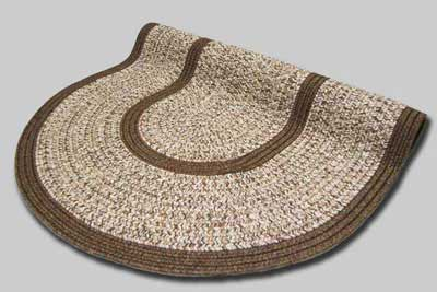 Town Crier Braided Rug - Brown Heather with Brown Solids - Number 92B Image