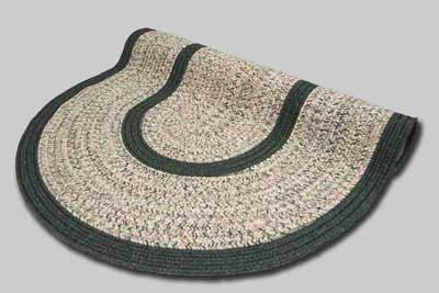 Town Crier Braided Rug - Green Heather with Green Solids - Number 94B Image