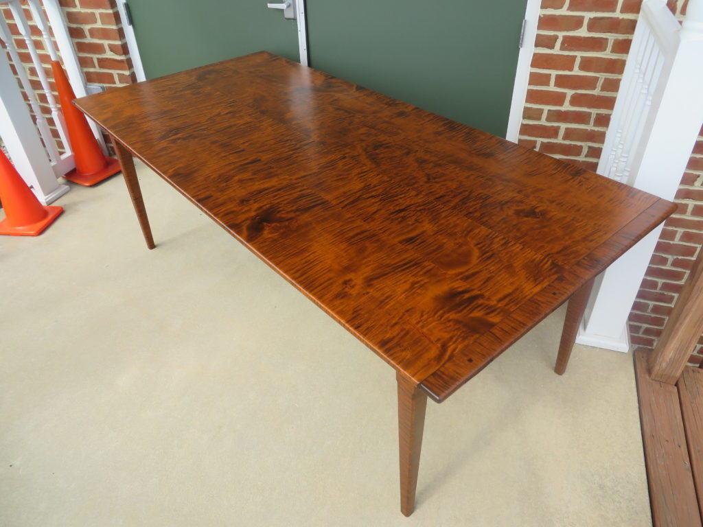 Lovely Tiger Maple Wood Pennsylvania Farm Table 061616 ...