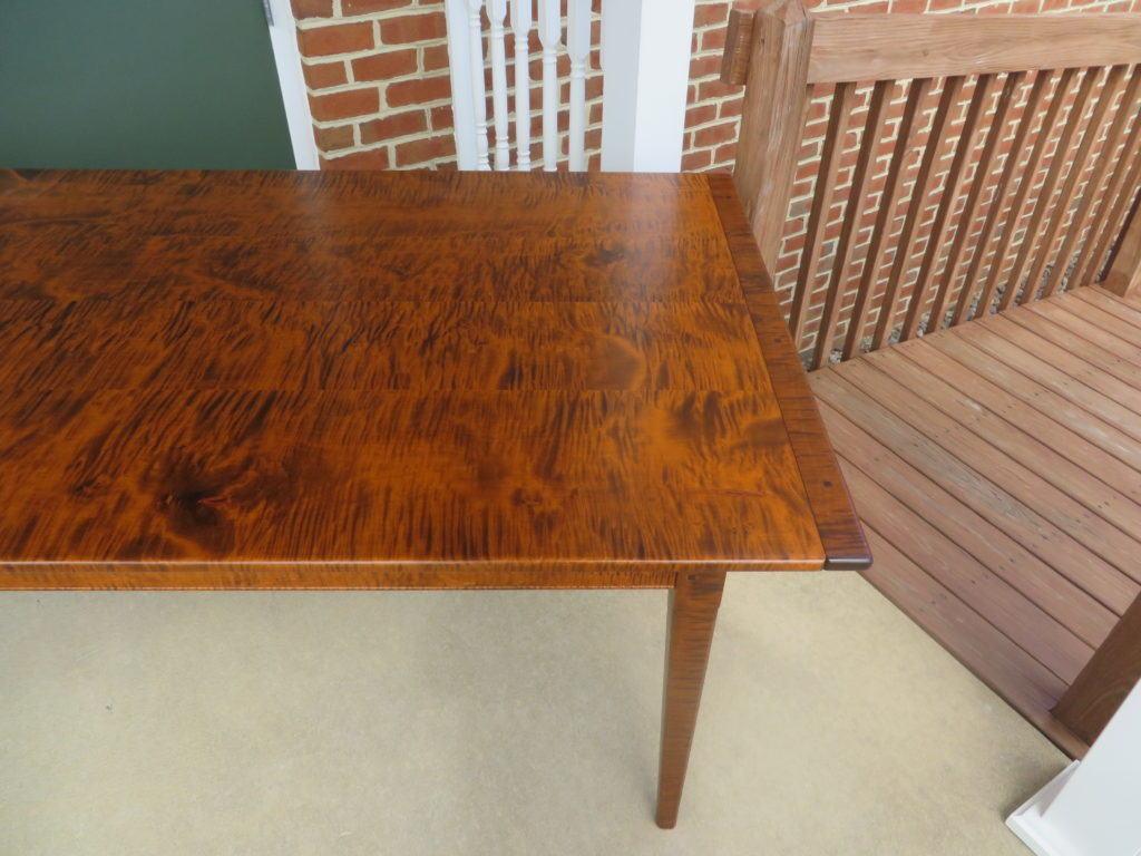 ... Tiger Maple Wood Pennsylvania Farm Table 061616 02 IMG_3631