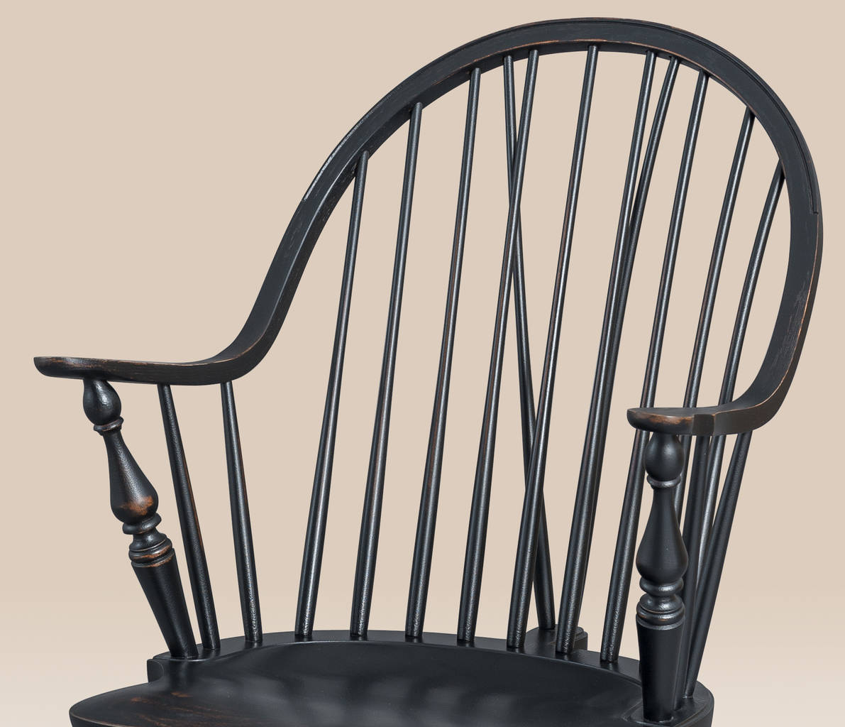 Historical New York Continuous Windsor Armchair with Brace